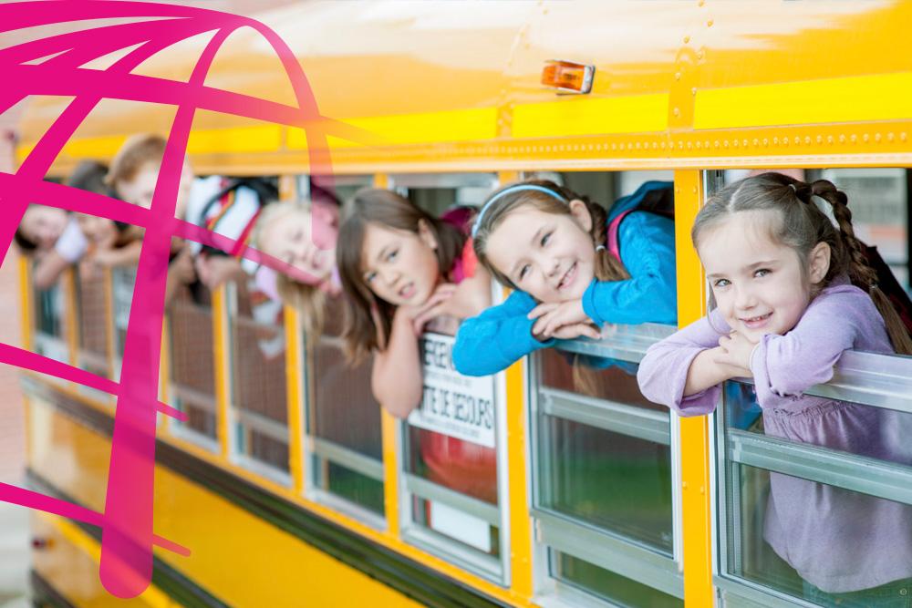 Rutas escolares en bus